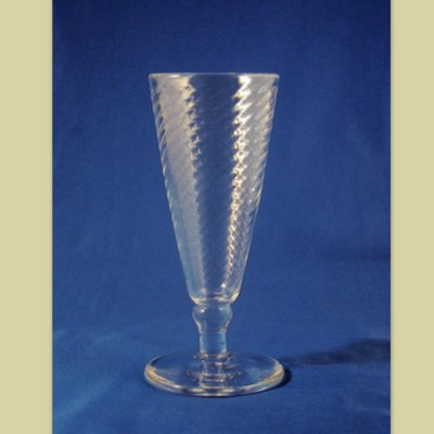 Goblet - Early American, Clear, Optic