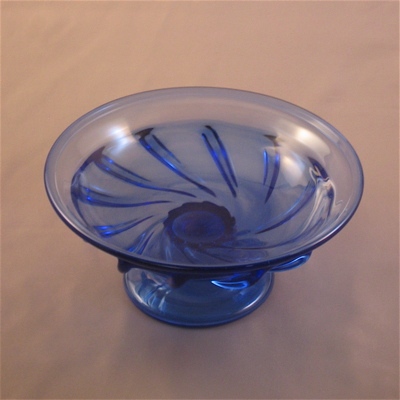 Dish - Blue with foot