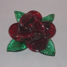 Paperweight - Rose, red