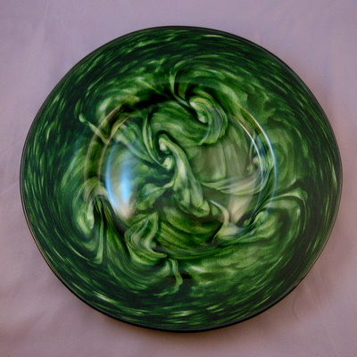 Plate - adventurine green and white