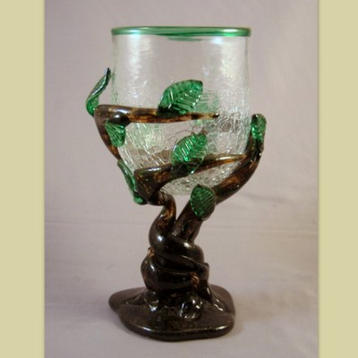 Goblet - Leafy, clear