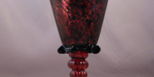 Betrothal Goblet - Venetian, ruby and black