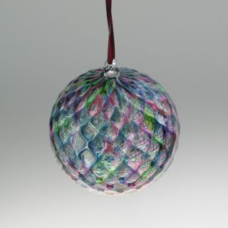 Round Ornaments - Diamond pattern, gemtone