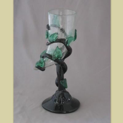 Goblet - Leafy, Horn, crackle