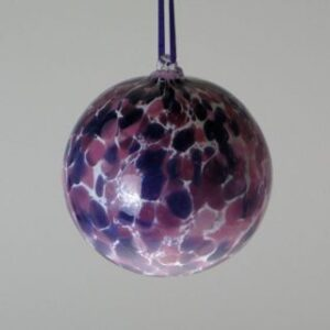 Round Ornaments - purple mix and white