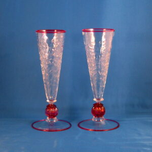 Campagne Flutes - Venetian, Red