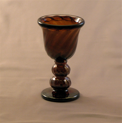 Egg Cup - Early American, Amber