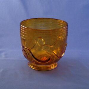 Deep Lilypad Bowl - Amber