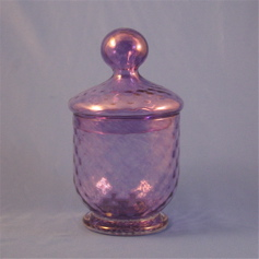 Jar - Early American, Purple with lid