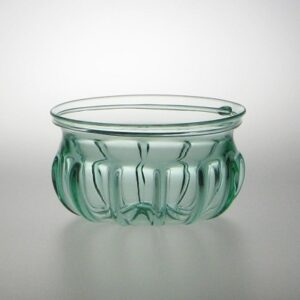 Roman Ribbed Bowl - Aqua
