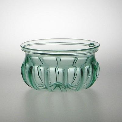 Roman Ribbed Bowl - Aqua