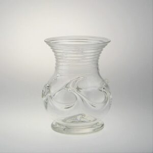 Lilypad Vase - Early American, clear