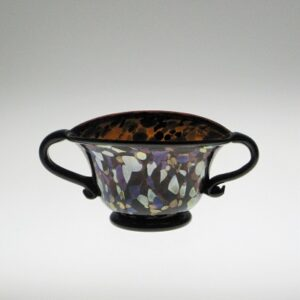 Bowl - Roman, multi-colored with handles