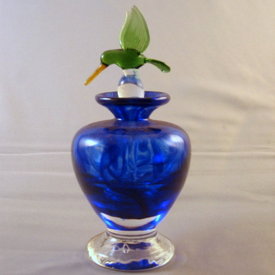 Perfume Bottle with Bird Stopper