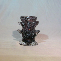 Shot Glass - Spikey, black and gold