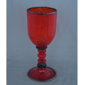 Goblet - Venetian, red and black