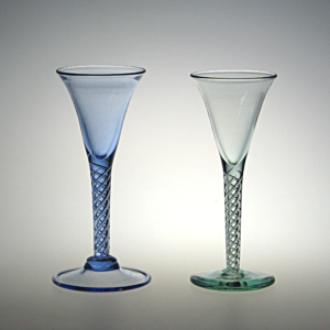 18th c. Air Twist Goblets