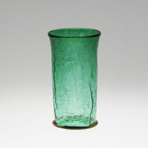 Crackle Beaker - with amber foot wrap