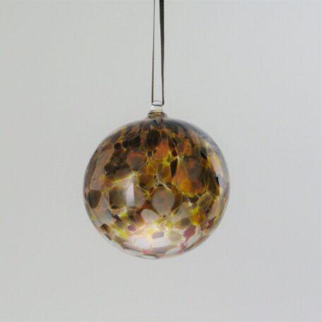 Round Ornament - brown mix