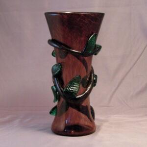 Vase - Leafy, narrow