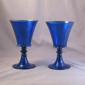 Betrothal Goblets - Venetian, blue