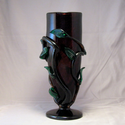 Vase - Leafy with foot