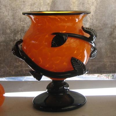 Bowl - Leafy, orange
