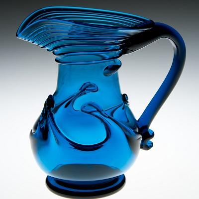 Lilypad Creamer - Early American, cobalt