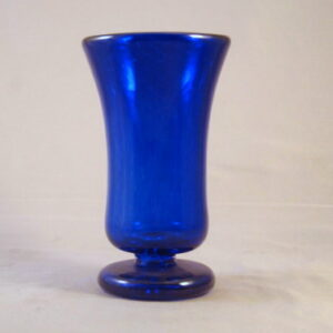 Folded Foot Goblet - Cobalt