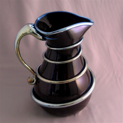 Pitcher - black with silver wrap