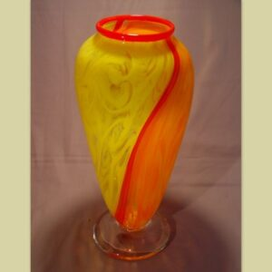 Vase - Encolmo, yellow and orange