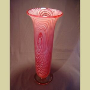 Vase - Switched Axis, ruby and white