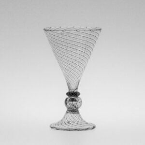 Wine Glass – Italian, Voet Beaker with Ball Stem, Canework