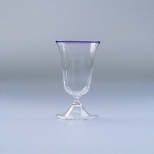Wine Glass – Italian/Venetian Goblet, blown foot with lip wrap