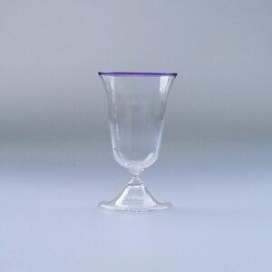 Wine Glass – Italian/Venetian Goblet, blown foot with lip wrap