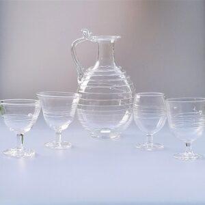 Decanter Set – Roman Decanter w/ Coordinating Wine Goblets